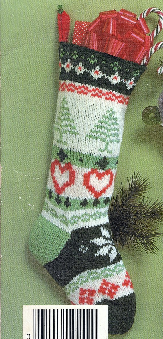 New Knit Christmas Fair isle Stocking Vintage Knitting Pdf Pattern Knit Stocking Pattern Of Attractive 47 Pictures Knit Stocking Pattern