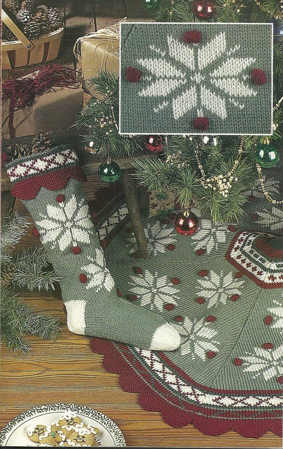 New Knit Christmas Tree Skirt and Stocking Aran Sweater Pattern Knit Tree Skirt Pattern Of Delightful 49 Images Knit Tree Skirt Pattern