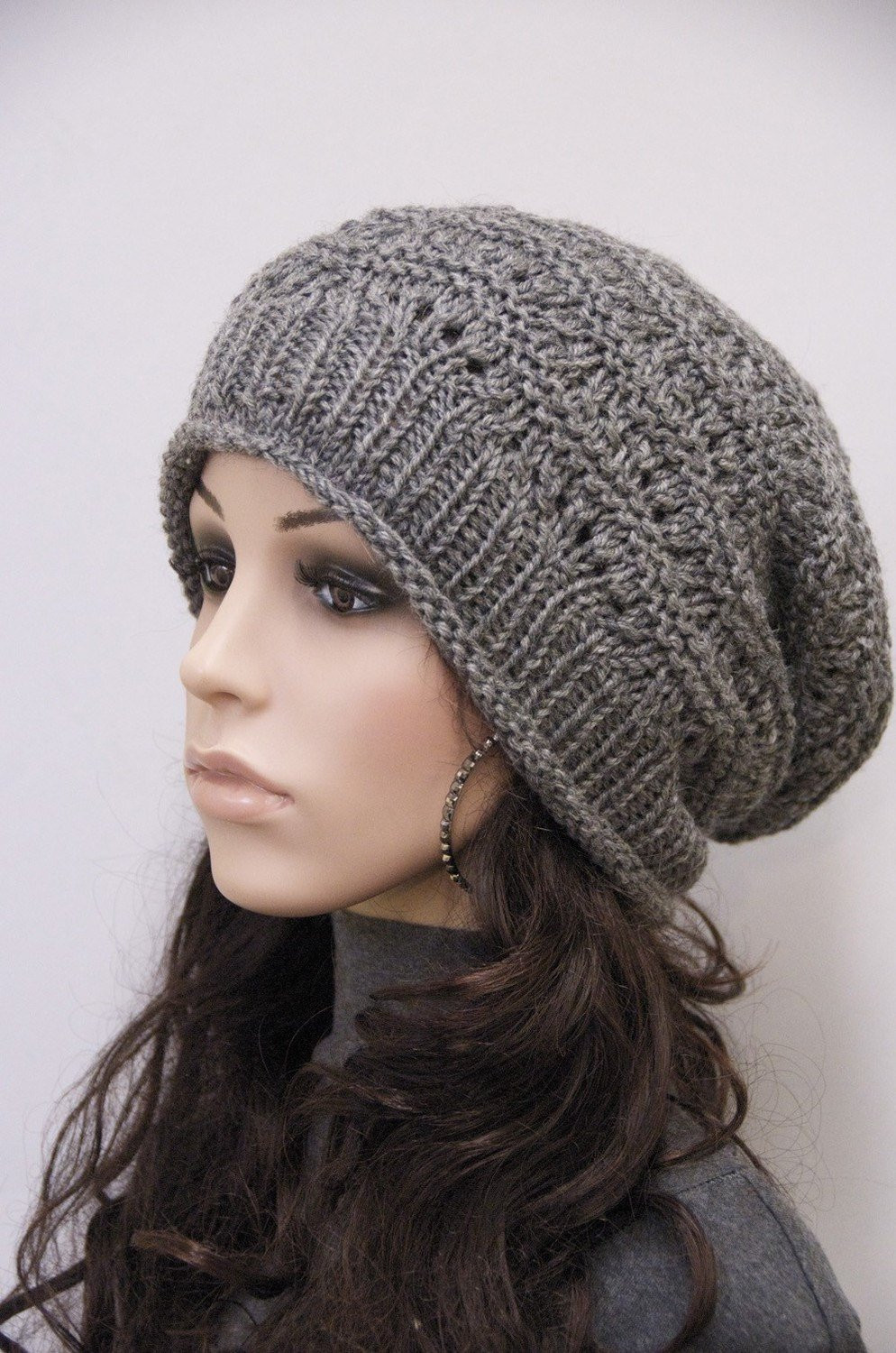 New Knit Hat Charcoal Chunky Wool Hat Slouchy Hatwool by Maxmelody Chunky Knit Hat Of Delightful 46 Pictures Chunky Knit Hat