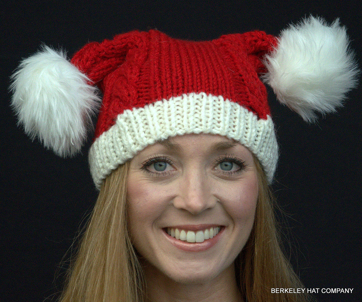 New Knit Santa Hat Double Pom Poms Knitted Santa Hat Of Fresh 50 Photos Knitted Santa Hat