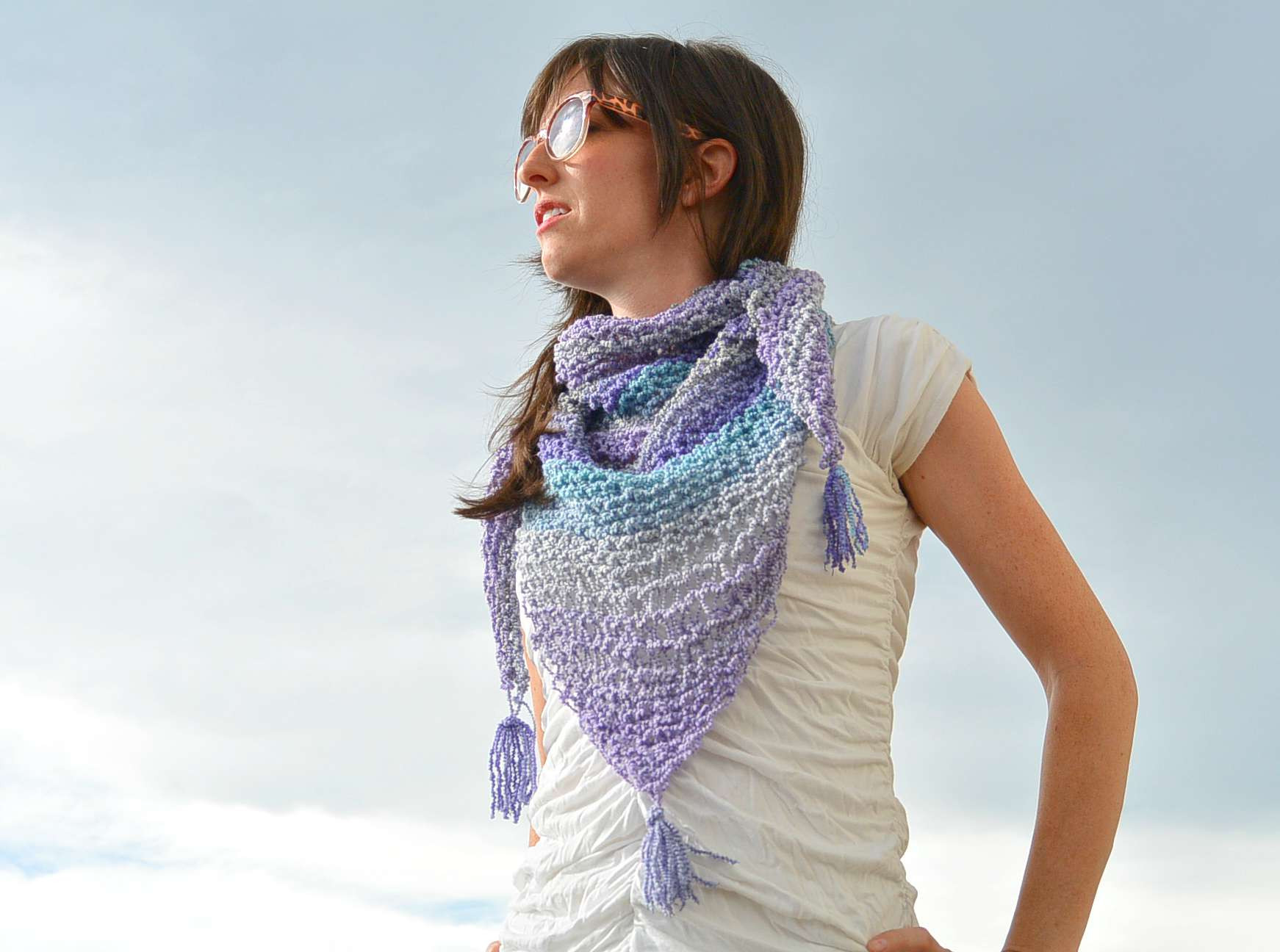New Knit Shawlette Pattern – Mama In A Stitch Simple Knit Scarf Of Attractive 44 Pictures Simple Knit Scarf