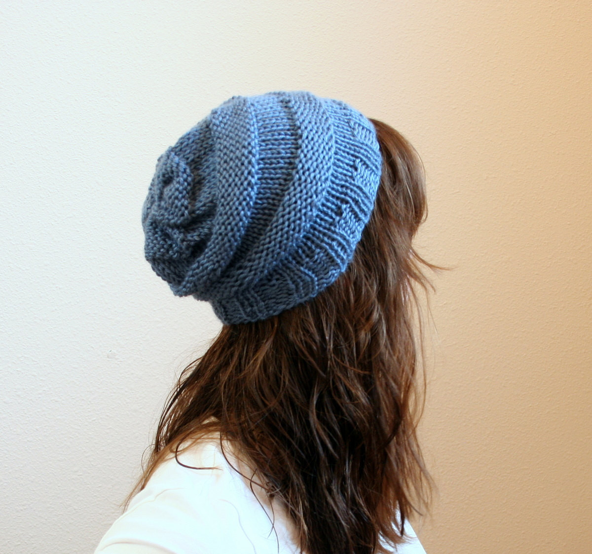 Knit Slouchy Beanie Pattern Knit Hat Pattern