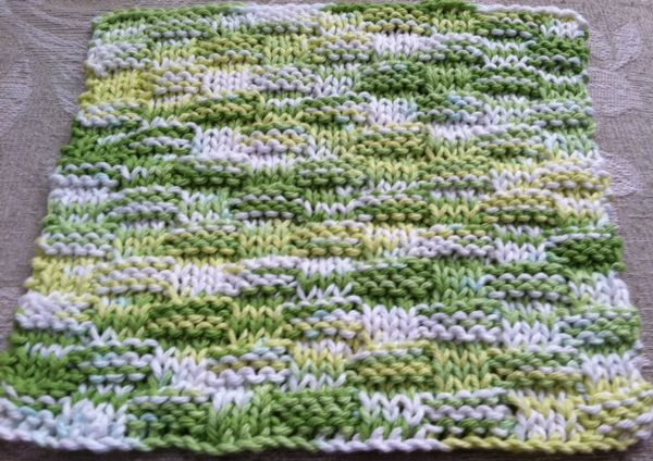 knitted dishcloth patterns for variegated yarn