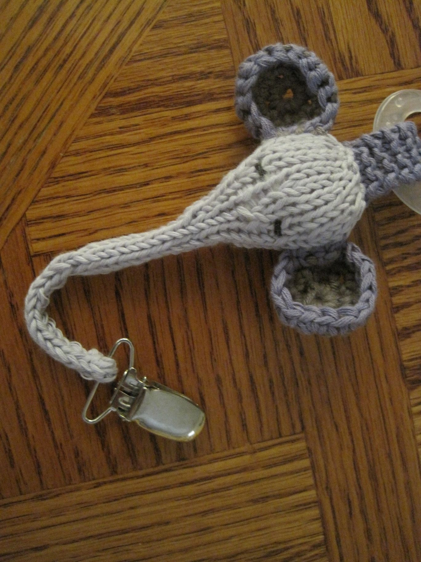 New Knitted Pacifier Clip Could Probably Figure Out the Crochet Pacifier Clips Of Lovely 50 Ideas Crochet Pacifier Clips