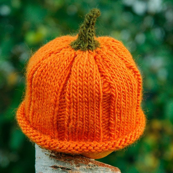 New Knitting Pattern for Hand Knit Wool Baby Hat In Pumpkin Knitted Pumpkin Hat Of Marvelous 40 Ideas Knitted Pumpkin Hat