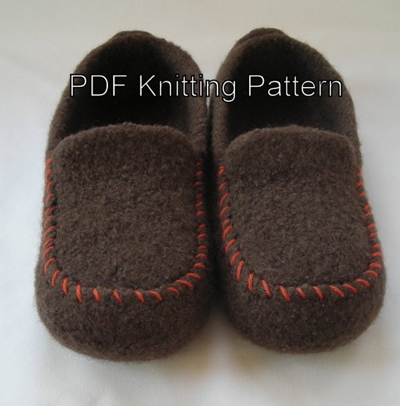 New Knitting Pattern Pdf Men S Felted Wool by Lavenderhillknits Mens Knitted Slippers Of Incredible 44 Pictures Mens Knitted Slippers