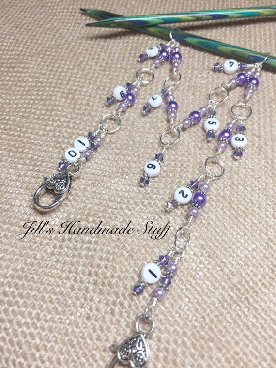 New Knitting Row Counter 1 10 Stitch Marker Beaded Numbered Chain Knitting Row Counter Of Marvelous 45 Models Knitting Row Counter
