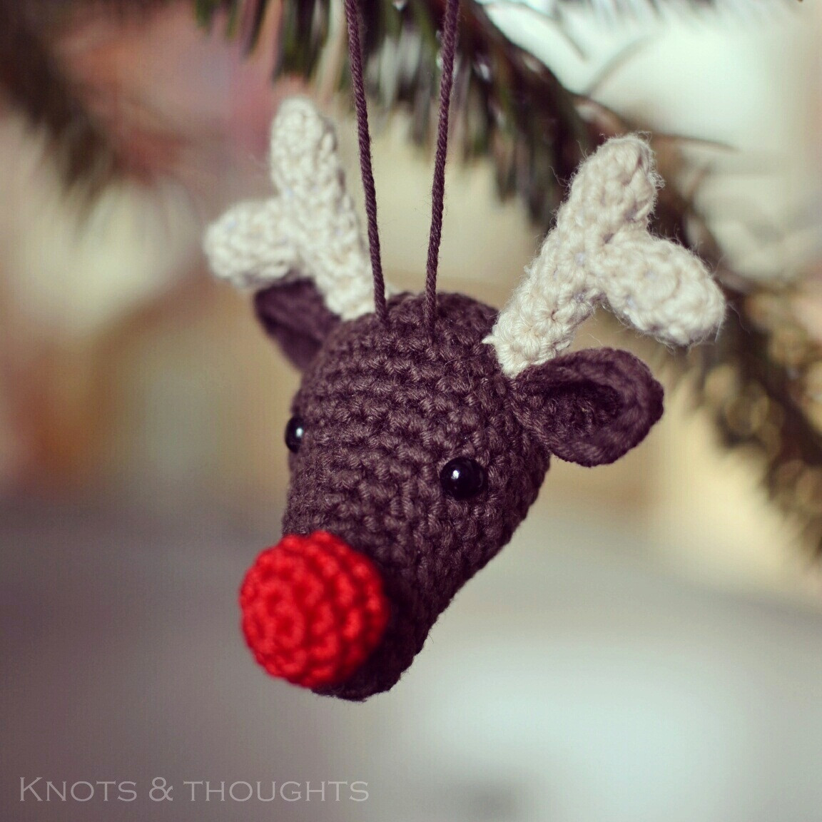 New Knots and thoughts Rudolph the Reindeer Christmas Christmas Reindeer ornaments Of Adorable 44 Pictures Christmas Reindeer ornaments