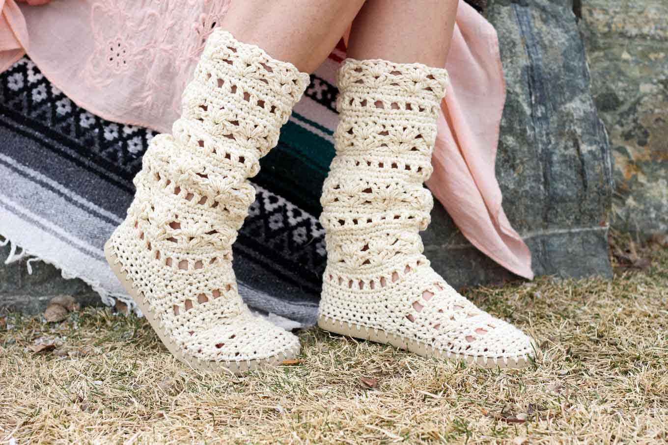 New Lacy Crochet Boots Pattern for Adults Made with Flip Flops Crochet Boot Of Awesome 46 Photos Crochet Boot
