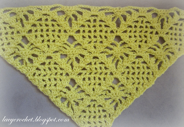 New Lacy Crochet Spider Stitch Triangle for A Shawl Free Pattern Spider Stitch Crochet Of Top 40 Pictures Spider Stitch Crochet