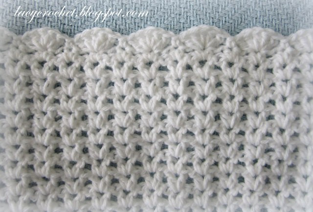 New Lacy Crochet V Stitch Baby Afghan with Scalloped Trim Afghan Stitch Of Innovative 41 Images Afghan Stitch