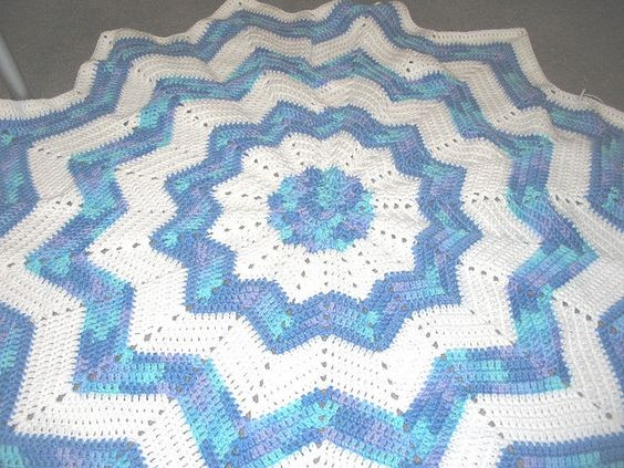 New Lacy Ripple Baby Afghan Crochet Pattern Pakbit for Round Afghan Crochet Pattern Of Great 44 Photos Round Afghan Crochet Pattern