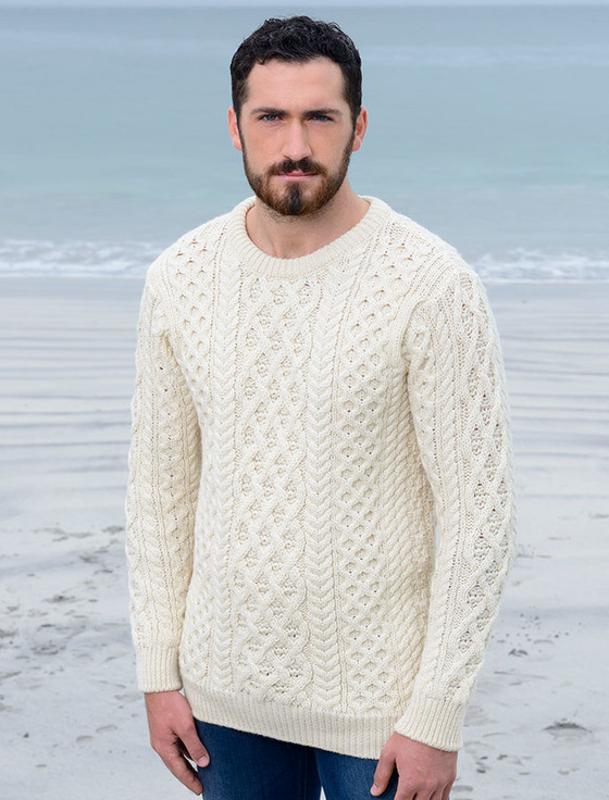Lattice Cable Aran Sweater Cable Knit