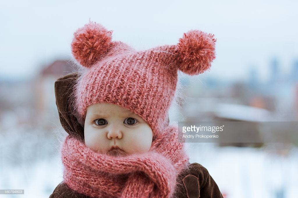 New Little Girl Wearing A Pink Knitted Hat and Scarf Stock Girls Knit Hats Of Delightful 44 Pics Girls Knit Hats