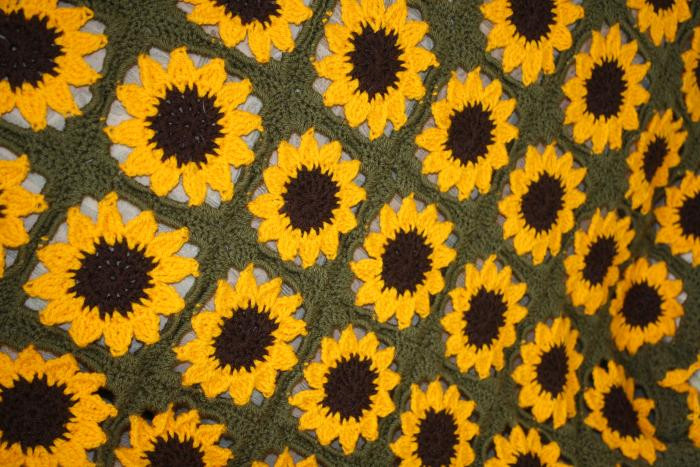 New Look What Ive Made Projects Crochet Sunflower Blanket Sunflower Afghan Of Delightful 32 Pics Sunflower Afghan