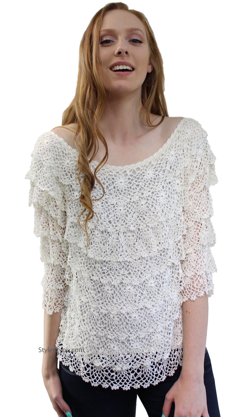 New Lucky Layered Crochet Vintage Victoria Lace Blouse In Crochet Blouse Of Superb 46 Models Crochet Blouse