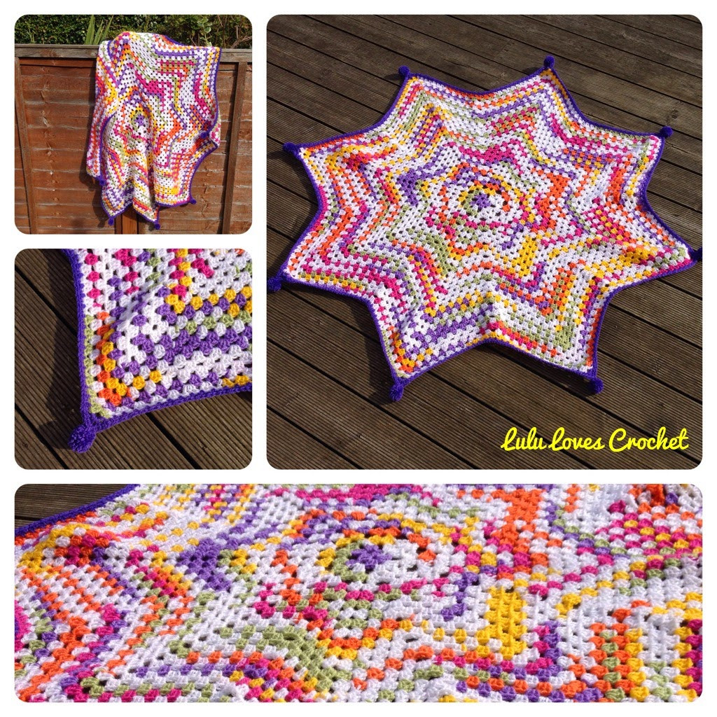New Lulu Loves Crochet the Granny Star Blanket Crochet Star Blanket Of Superb 49 Images Crochet Star Blanket