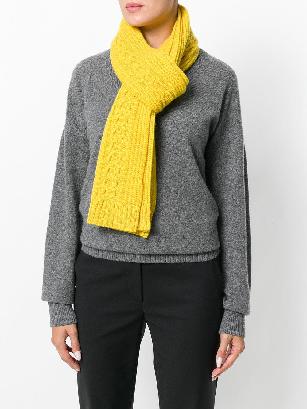 New Lyst N Peal Cashmere Wide Cable Knit Scarf In Yellow Cable Knit Scarf Of Delightful 48 Ideas Cable Knit Scarf