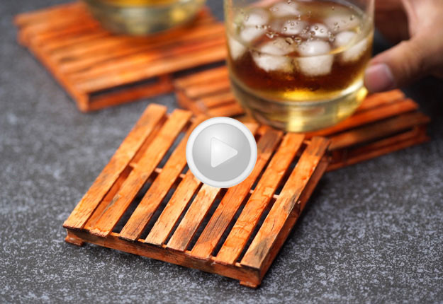 Make Mini Pallet Coasters From Popsicle Sticks