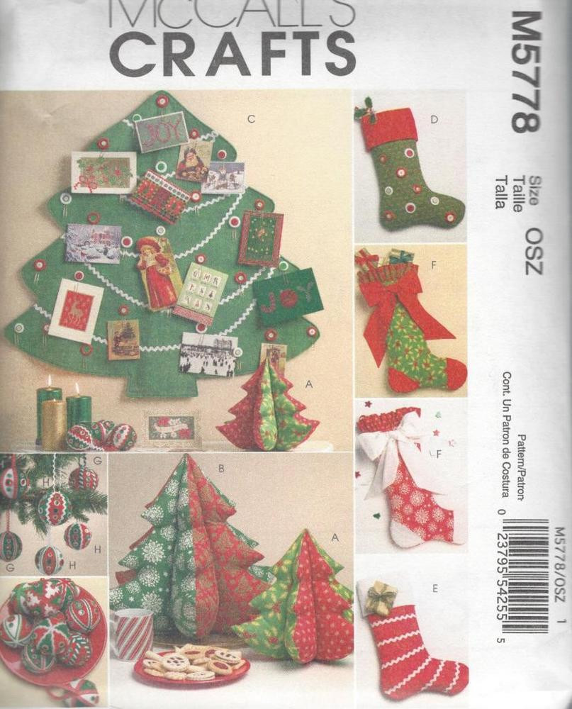 New Mccall S Sewing Pattern Christmas Decorations Tree Christmas Sewing Patterns Of Contemporary 43 Images Christmas Sewing Patterns
