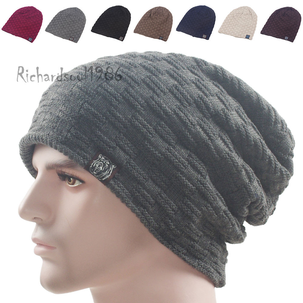 New Men S Baggy Long Stocking Beanie Cap Winter solid Knit Knit Stocking Cap Of Fresh 40 Pictures Knit Stocking Cap