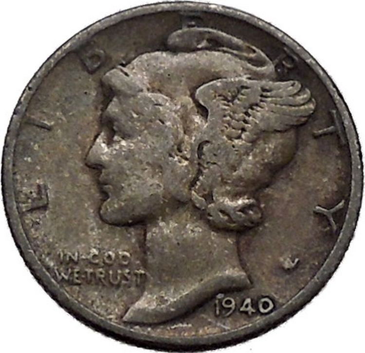 New Mercury Winged Liberty Head 1940 Dime United States Silver Lady Liberty Dime Of Adorable 45 Pics Lady Liberty Dime