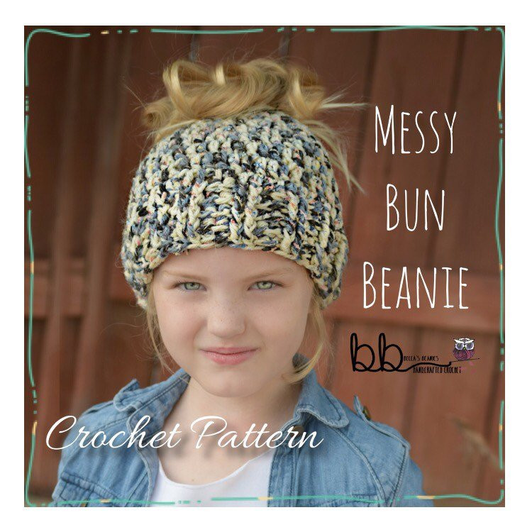 New Messy Bun Beanie Pattern Only Crochet Size toddler Messy Bun Beanie Crochet Pattern Of Adorable 45 Pics Messy Bun Beanie Crochet Pattern
