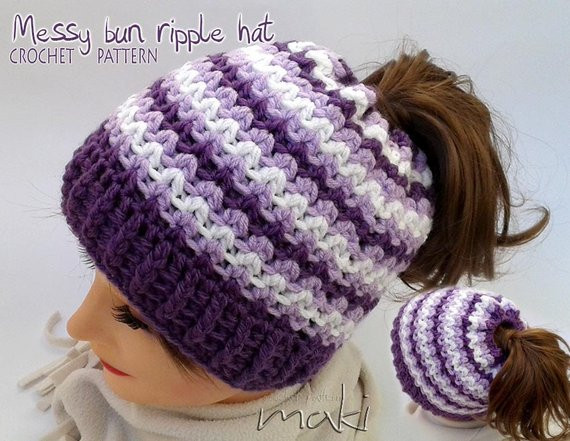 New Messy Bun Hat Crochet Pattern Crochet Ponytail Hat Pattern Free Crochet Pattern for Messy Bun Hat Of Beautiful 47 Ideas Free Crochet Pattern for Messy Bun Hat