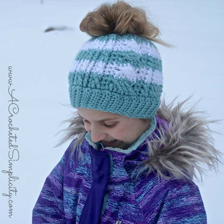 Messy Bun Hat Pattern Collection
