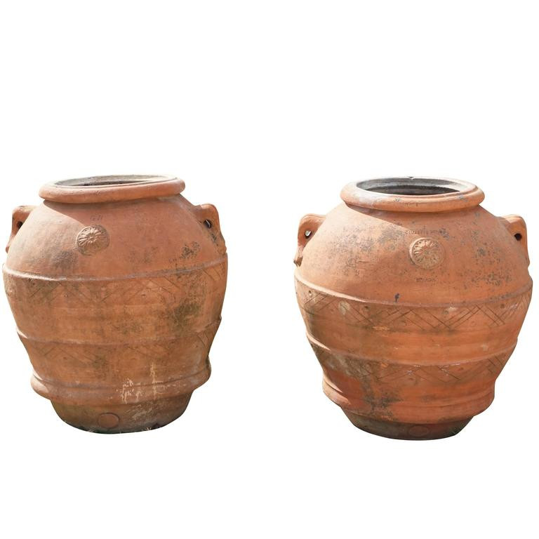 New Mid 19th Century Tuscan Terra Cotta Clay Pots Jars for Pottery Clay for Sale Of Unique Traditional Ceramic Jugs Decorative towel Showcase Pottery Clay for Sale