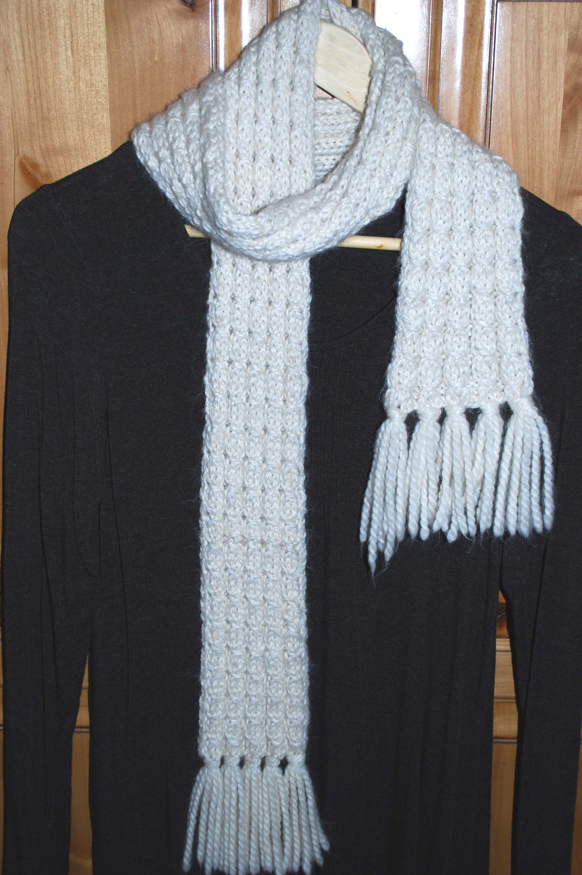 Mock Cable Scarf – The Piper s Girls
