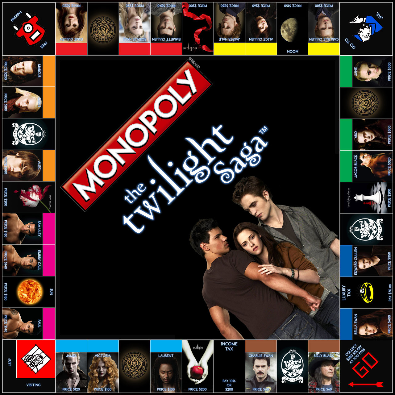 New Monopoly Twilight Edition by Jest84 On Deviantart Cool Monopoly Games Of Charming 45 Images Cool Monopoly Games