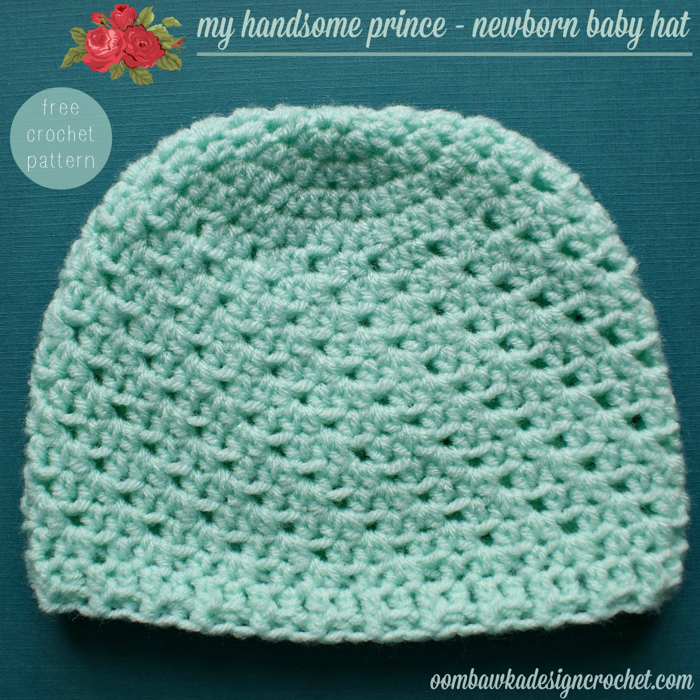 New My Handsome Prince Newborn Baby Hat Pattern • Oombawka Free Crochet Infant Hat Patterns Of Luxury Baby Hat Crochet Pattern Modern Homemakers Free Crochet Infant Hat Patterns