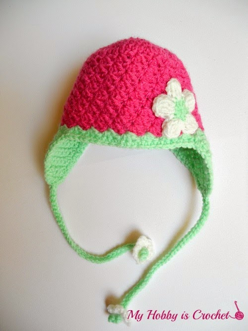 New My Hobby is Crochet Blooming Strawberry Baby Earflap Hat Earflap Hat Crochet Pattern Of Wonderful 43 Images Earflap Hat Crochet Pattern