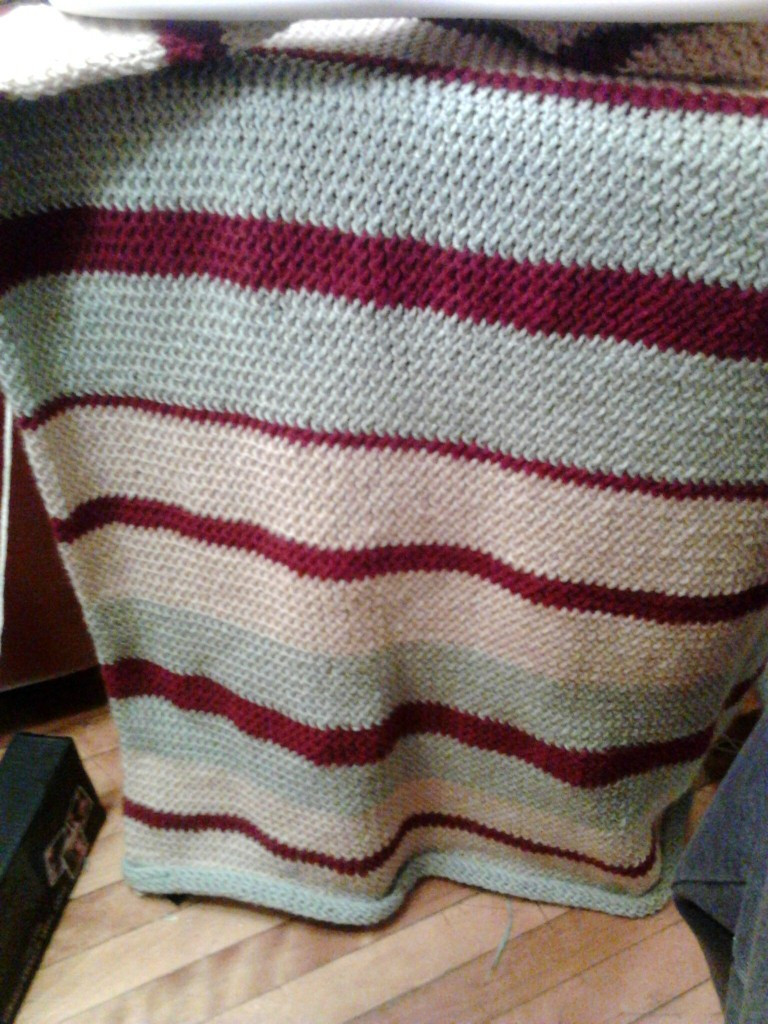 My KB Super Afghan Loom Project – Nearing pletion – All