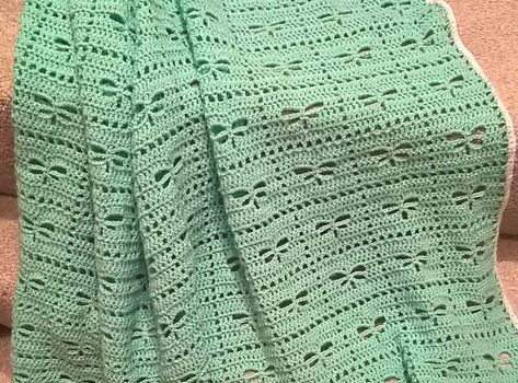 New [na] Gorgeous Traditional Baby Blanket Featuring Dragonfly Crochet Blanket Of New 41 Ideas Dragonfly Crochet Blanket