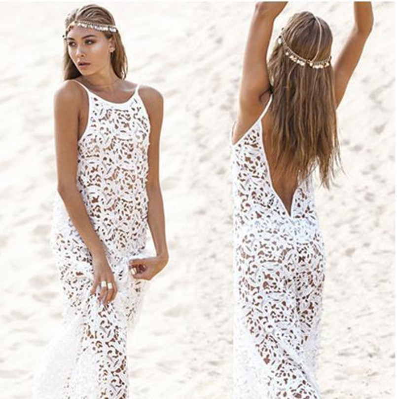 New New 2016 Beach Tunic Y Swimwear Cover Up Women Beach White Crochet Beach Dress Of Brilliant 42 Pics White Crochet Beach Dress