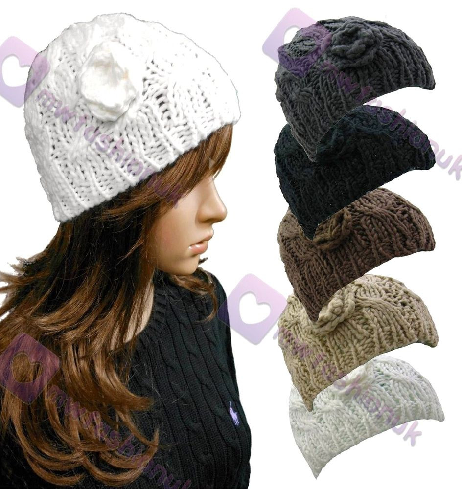 New Chunky Cable Knit Hat Beanie Hat Colour Choice Womens