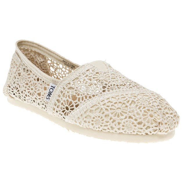 New New Womens toms White Natural Crochet Textile Shoes Canvas toms Crochet Shoes Of Wonderful 45 Ideas toms Crochet Shoes