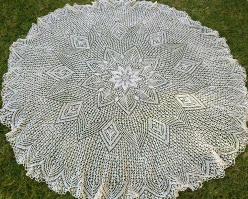 New Other Textiles Cream Round Vintage Crochet Tablecloth Crochet Tablecloth for Sale Of Delightful 42 Ideas Crochet Tablecloth for Sale