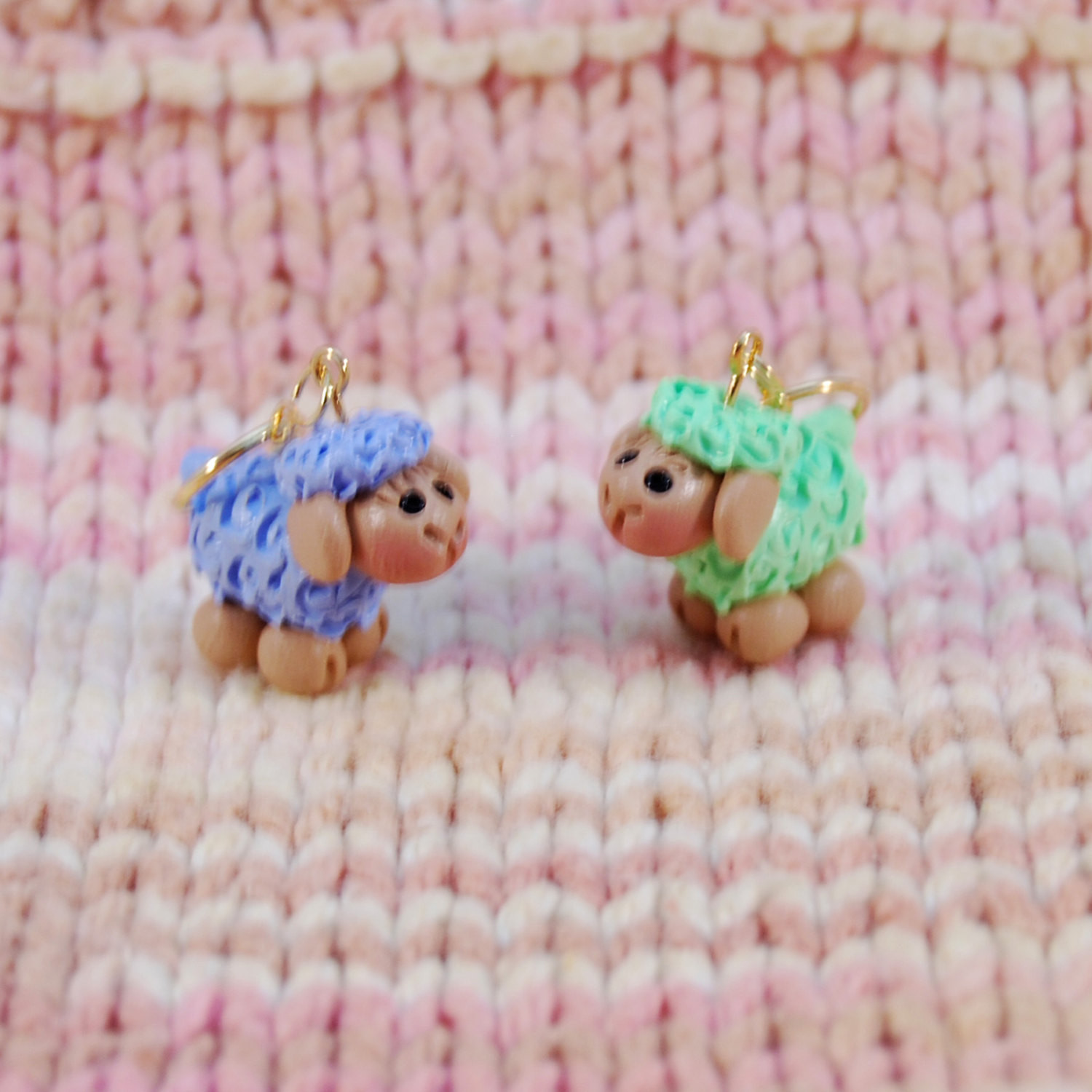 Pastel Colored Sheep knitting or crochet stitch markers