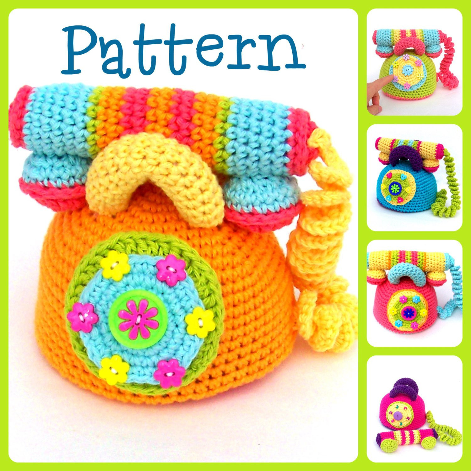 pattern crochet telephone tootylou baby