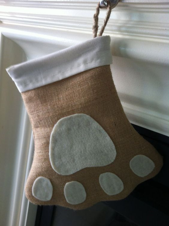 New Paw Print Burlap Christmas Pet Stocking Dog Stocking Dog Paw Stocking Of Charming 44 Ideas Dog Paw Stocking