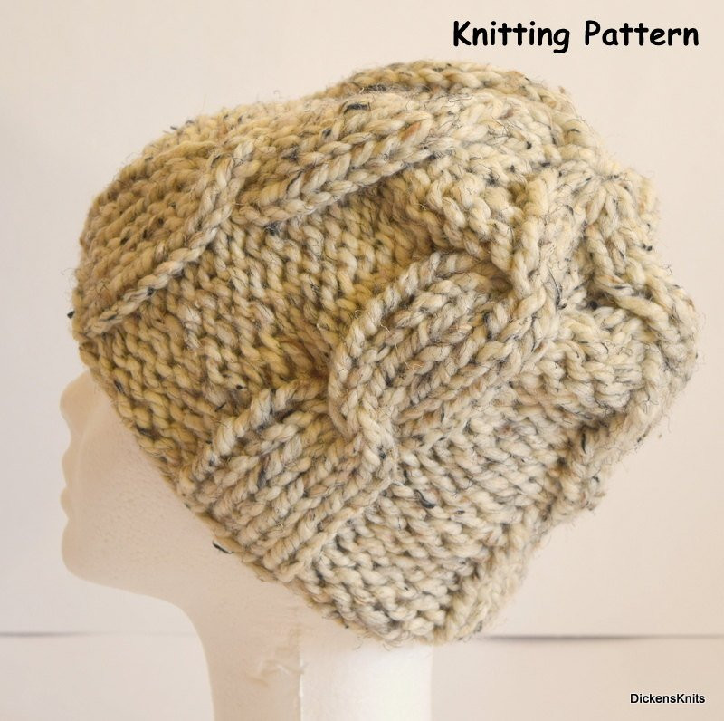 New Pdf Knitting Pattern soft Wool Chunky Knit Hat Knit Cable Chunky Knit Hat Of Delightful 46 Pictures Chunky Knit Hat