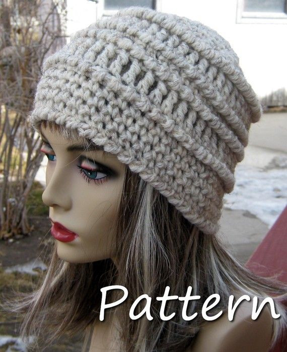 New Pdf Pattern Chunky Textured Crochet Beanie Can Sell Chunky Crochet Beanie Pattern Of Lovely Crochet Hat Pattern Chunky Back Loop Beanie Uni Chunky Crochet Beanie Pattern