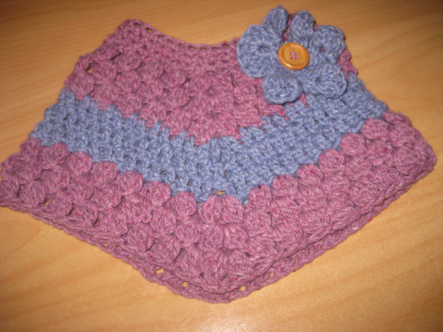 PDF PATTERN ONLY Baby Toddler Crochet Cluster Poncho