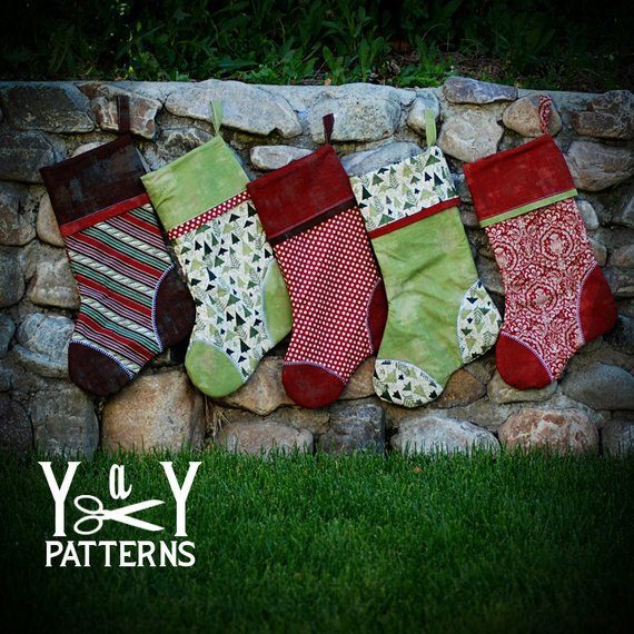 New Pdf Sewing Pattern the Heirloom Stocking Pattern Holiday Xmas Stocking Patterns Of Marvelous 47 Images Xmas Stocking Patterns