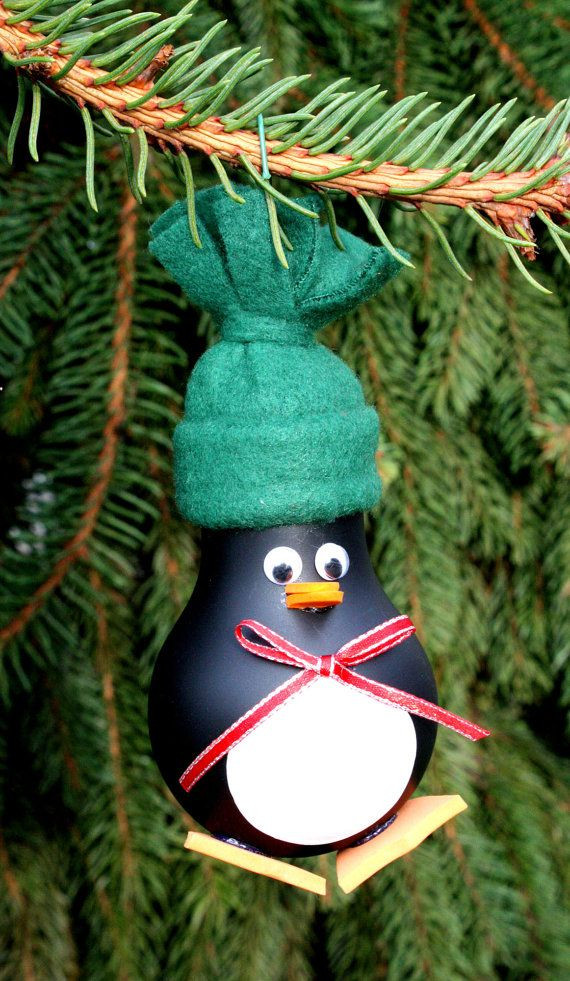 New Penguin Christmas Tree ornament Made From A Recycled Penguin Christmas ornaments Of Top 50 Models Penguin Christmas ornaments