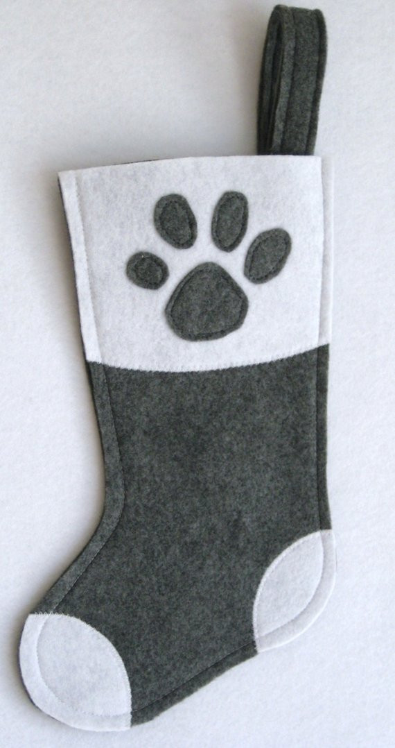 New Pet Paw Christmas Stocking for Dog or Cat Choose Your Color Dog Paw Stocking Of Charming 44 Ideas Dog Paw Stocking