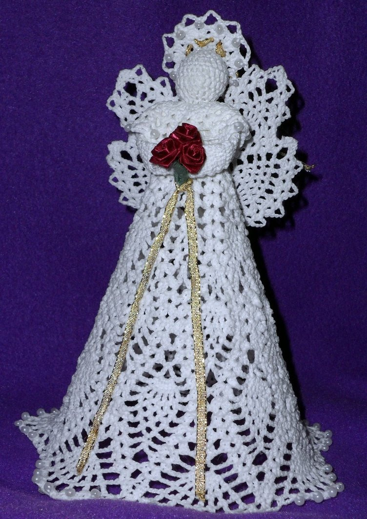 New Pineapple Angle Tree topper by Emmie486 Crochet Angel Tree topper Of Charming 43 Ideas Crochet Angel Tree topper